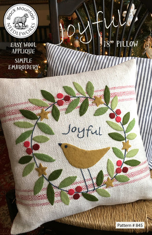 *NEW* Joyful Pillow Pattern--download PDF pattern