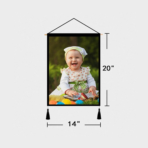 Custom Photo Tapestry - Wall Decor Fabric Painting Frame Poster Baby