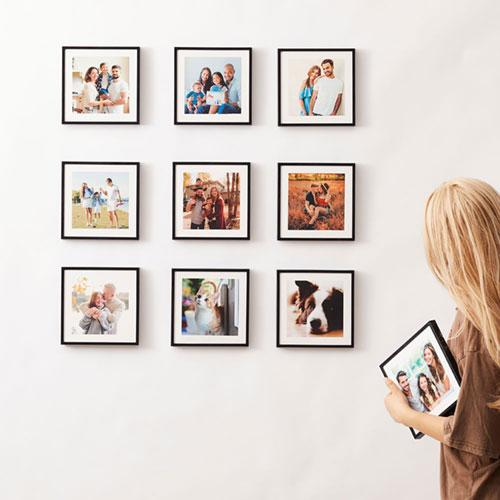 "Gifts for Her 8""x8"" Photo Tiles Custom Square Photo Wall Art Collage Picture Tiles"