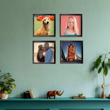 "Load image into Gallery viewer, 8""x8"" Custom Square Photo Tiles Photo Wall Art Collage Picture Frames"