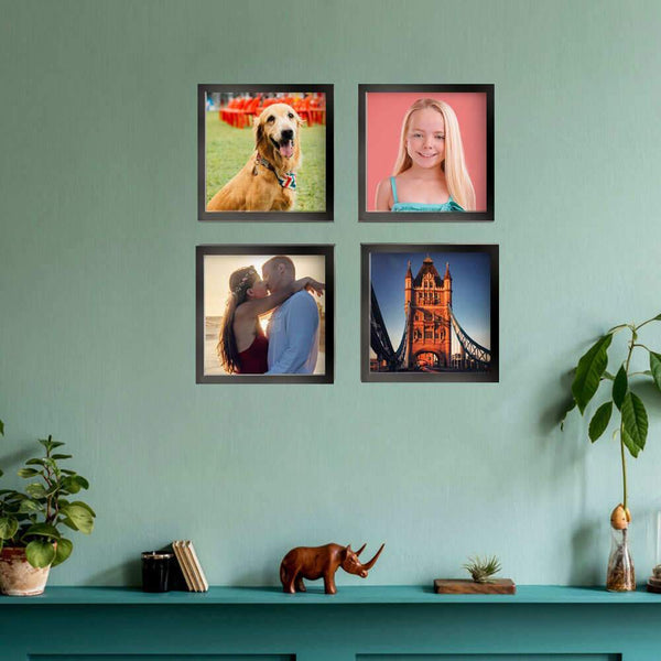 "8""x8"" Custom Square Photo Tiles Photo Wall Art Collage Picture Frames"