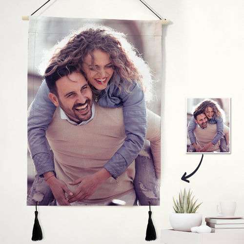 Custom Couple Photo Tapestry - Wall Art Home Decor Tapestry