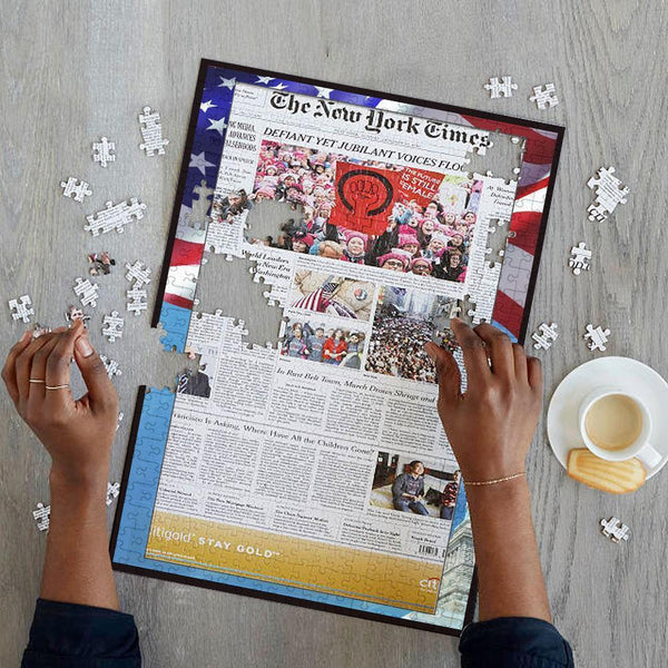 Anniversary Gifts Newspaper Jigsaw Puzzle - Choose Your Date