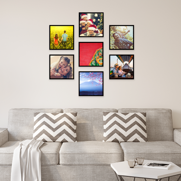 "Custom Photo Tiles 8""x8"" Collage Picture Frames Wallart Gifts for Friends"