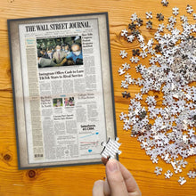 Choose Your Date Newspaper Jigsaw Puzzle - Gifts for Birthday