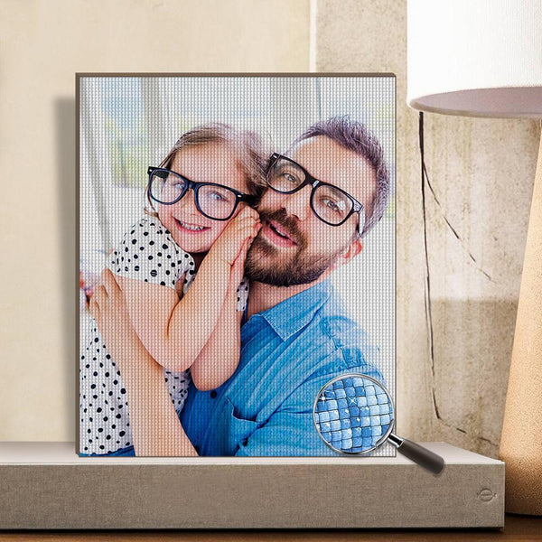 Gifts for Dad Custom Photo DIY Diamond Painting Stay Fun at Home