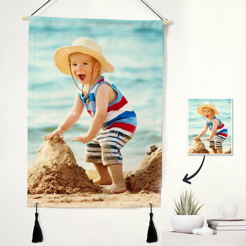 Custom Photo Tapestry - Baby Wall Art Home Decor Tapestry
