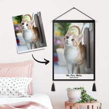 Custom Pet Photo Tapestry - Wall Decor Fabric Painting Frame Poster Family Gifts
