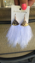 Load image into Gallery viewer, White Tassle Earrings