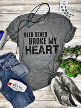 Load image into Gallery viewer, Beer Never Broke My Heart Tee