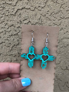 Small Heart Zia Earrings