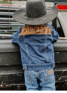 Cowboy Denim/Cowhide