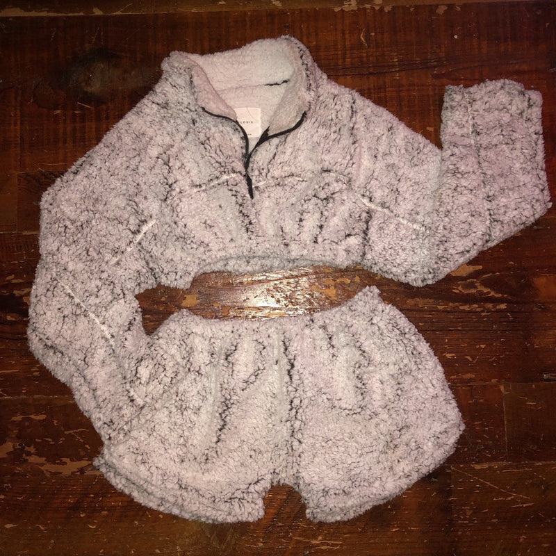COZY CROPPED SHERPA SET