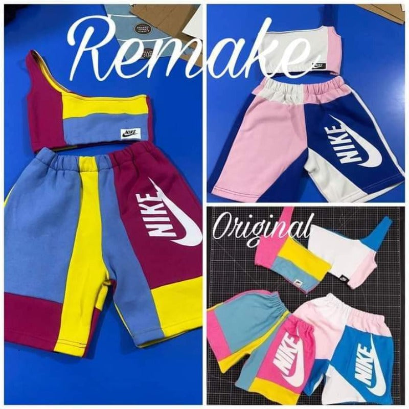 Off the shoulder Nike shorts play-set