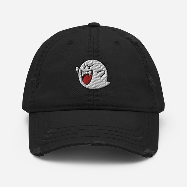 BOO GHOST Distressed Dad Hat
