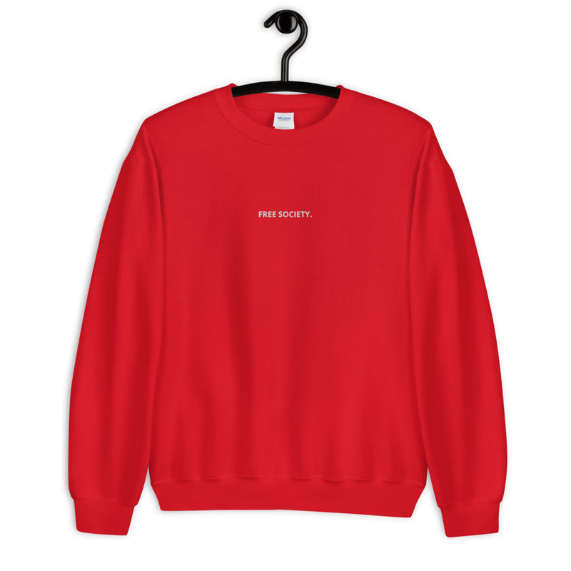 FREE SOCIETY EMBROIDERED CREW-NECK