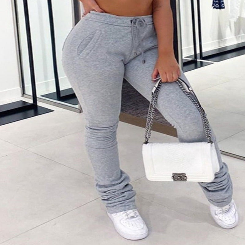 Stacked Joggers - Grey