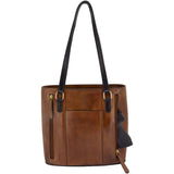 Hephaestus Tyche Genuine Leather Concealed Carry Classic Handbag by Cameleon
