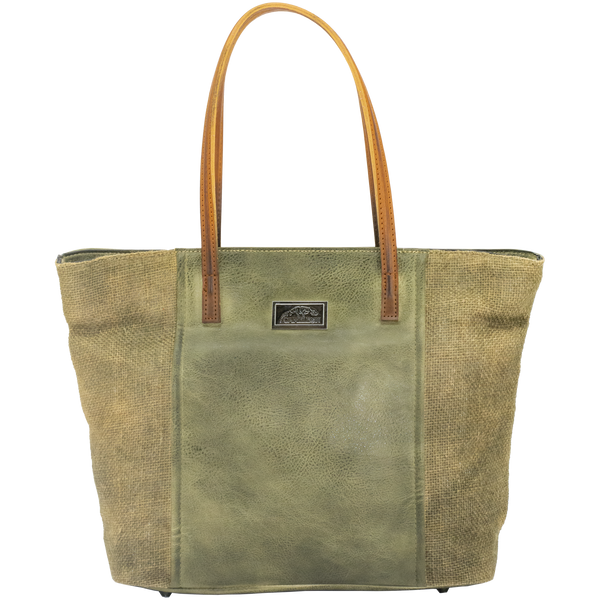Theia Concealed Carry Satchel Tote Bag in Olive