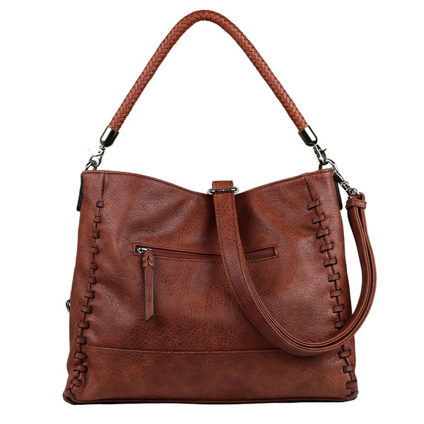 Lily Concealed Carry Purse Mahogany Tote Bag by Lady Conceal