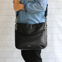 Ashley Chain Hobo Concealed Carry Bag in Black by Lady Conceal