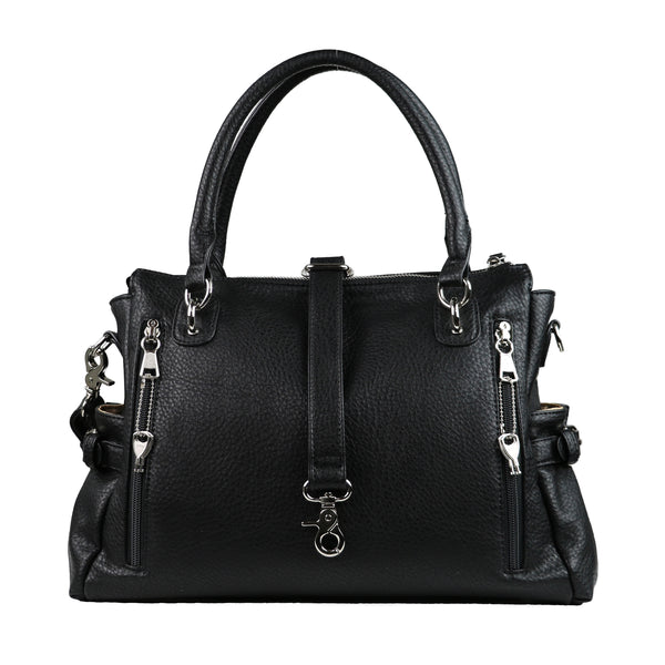 Jessica Concealed Carry Purse Black Satchel by Lady Conceal