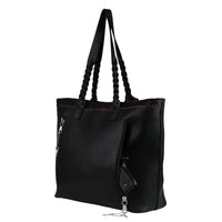 Cora Concealed Carry Purse Black Stitched Tote Bag by Lady Conceal