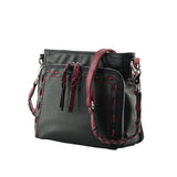 Skylar Concealed Carry Organizer Stitched Black Crossbody by Lady Conceal