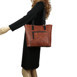 Grace Concealed Carry Purse Mahogany Two-tone Tote by Lady Conceal