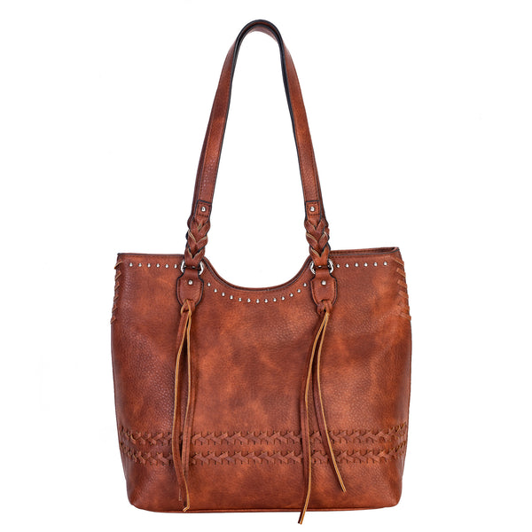 Riley Concealed Carry Purse Mahogany Scoop Top Tote Bag by Lady Conceal