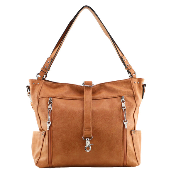 Brooklyn Concealed Carry Cinnamon Tote Bag by Lady Conceal