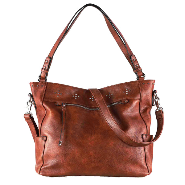 Brooklyn Concealed Carry Mahogany Tote Bag by Lady Conceal