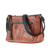 Hailey Concealed Carry Purse Mahogany Crossbody by Lady Conceal