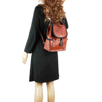 Madelyn Concealed Carry Purse Mahogany Backpack by Lady Conceal