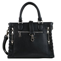 Laced Ann Concealed Carry Purse Black Satchel by Lady Conceal