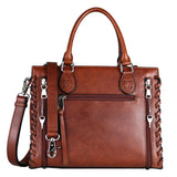 Classy Emma Genuine Leather Concealed Carry Satchel by Lady Conceal