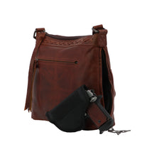 Faith Concealed Carry Leather Crossbody Mahogany