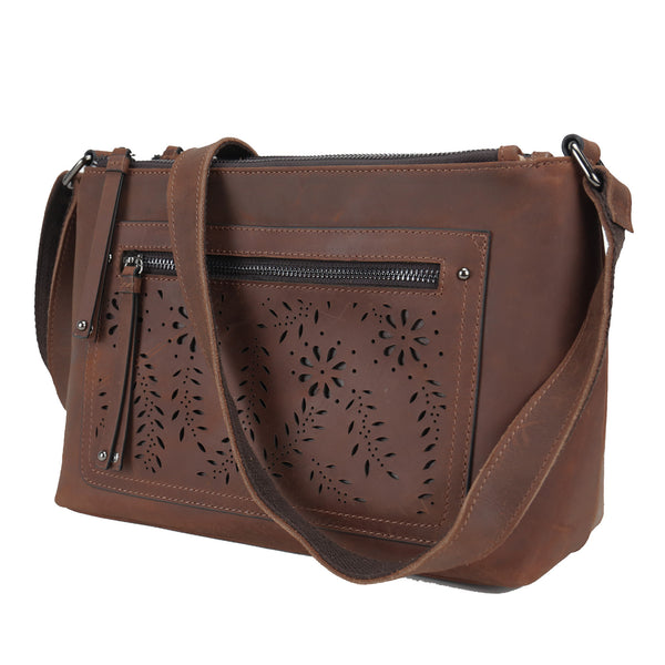 Genuine Leather Brynlee Concealment Crossbody by Lady Conceal