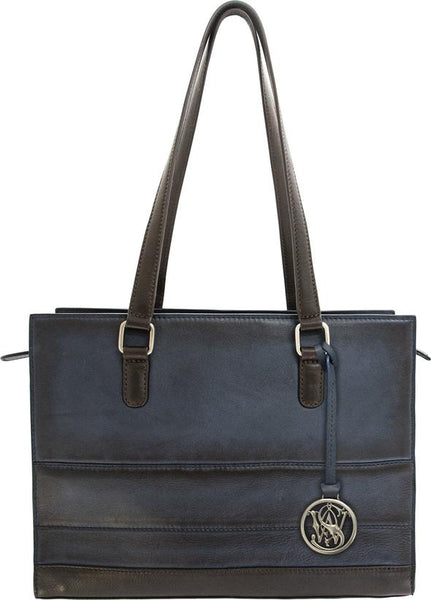 Structured Leather Concealed Carry Handbag by Smith & Wesson