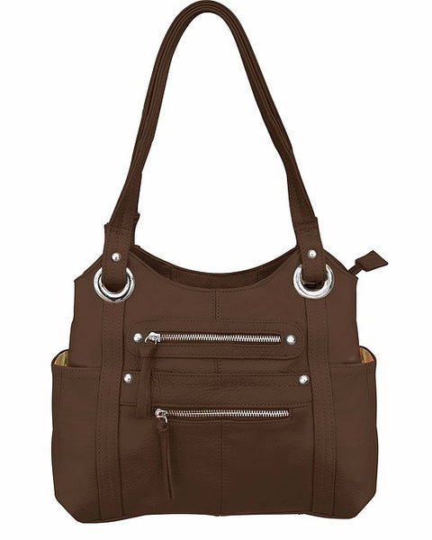 Dual Zip Moto Tote Concealed Carry Purse