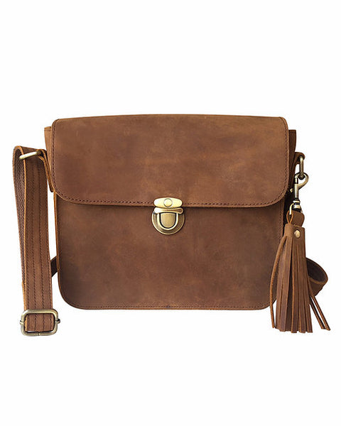 Leather Flap Concealed Carry Crossbody