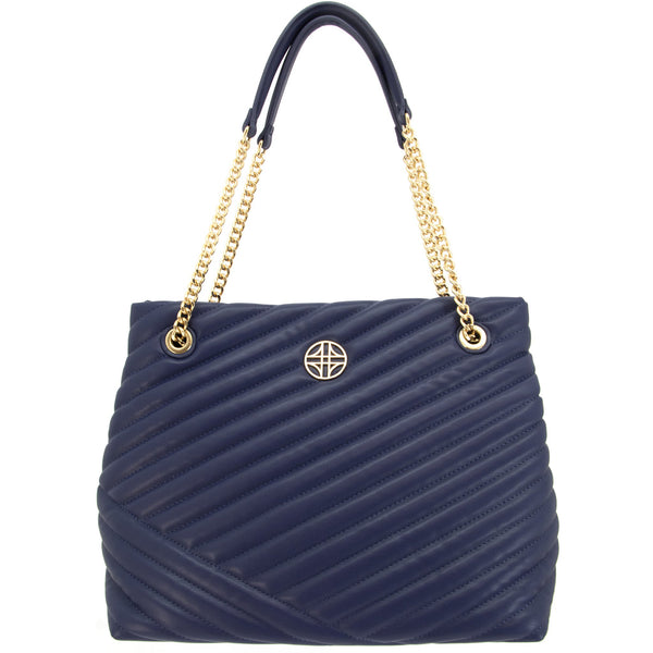 Flora Quilted Tote Concealed Carry Handbag in Blue