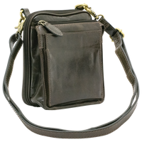 Genuine Leather Juno Nemesis Concealed Carry Crossbody Bag by Cameleon