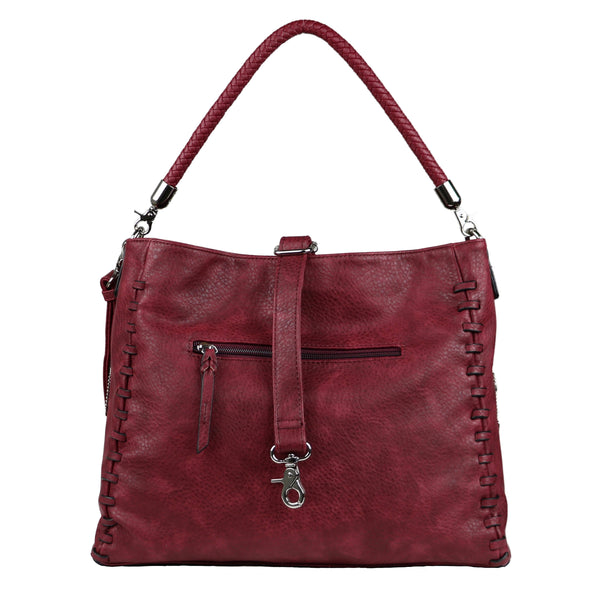 Lily Concealed Carry Purse Burgundy Tote Bag by Lady Conceal