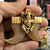 Very Big Size Gold Plated Ganpati Dual Lion Nail for Men