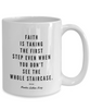 Martin Luther King Quote MLK on Ceramic White Mug