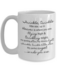 Twinkle Star White Ceramic Infant Loss Mug/Cup, Perfect Remembrance Gift for Mom, Child Loss, 11oz, 15oz