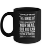 Sharon Creech Inspirational Quote, Black Ceramic Mug