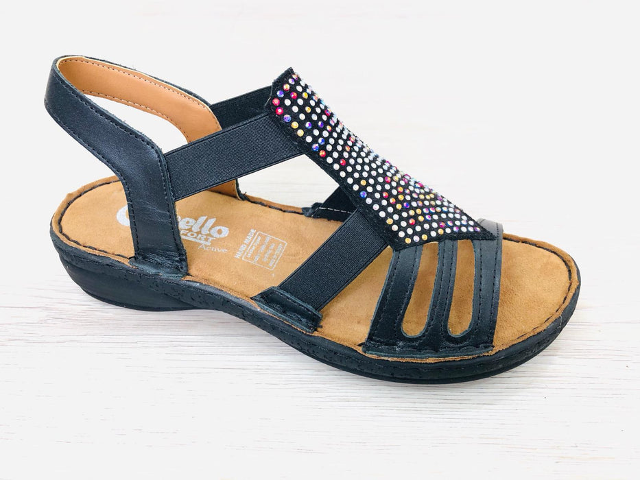 Sharon - Navy - Sandals
