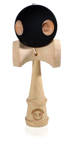 5 Hole Standard Eclipse Kendama - Rubber Black